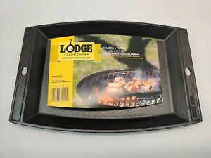"""Lodge Cast Iron Rectangular Griddle, 11.56"""" x 7.75"""" - LSCP3 F4800 2 USA SCP"""