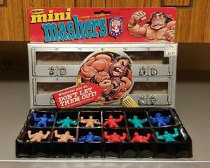 AWA Remco MINI MASHERS 12 Figures Set COMPLETE IN BOX 1986 GOOD CONDITION!