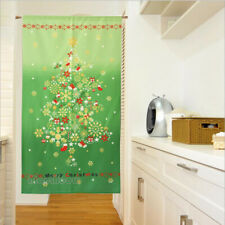 Japanese Noren Door Curtain Room Doorway Divider 85x150cm Green Merry Christmas