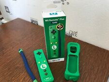 Manette officielle verte luigi wii motion plus/wii u en boîte complète collector