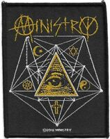 Official Licensed Merch Woven Sew-on PATCH Metal Rock MINISTRY All Seeing Eye