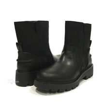 UGG POLK MOTO BOOTS -BLACK LEATHER -WOMEN'S US 8