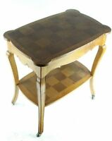 Vintage English Parquetry Oak Occasional Table - FREE Shipping [PL4815]