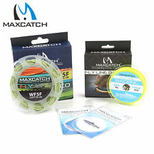 Maxcatch WF1F-8F Floating Fly Line Combo Fishing Backing Line 9ft Tapered Leader