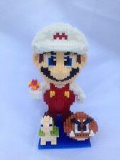 Super Fire Mario +goomba + koopa (Magic Building Blocks)