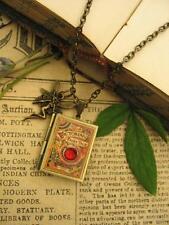 Bronce Cuentos De Hadas Libro Foto Medallón Collar Colgante Steampunk encantos Faerie