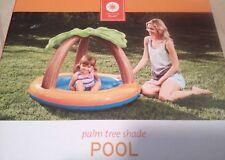 Nwb Palm Tree Shade Toddler Pool / Drink Holder / Toy Holder