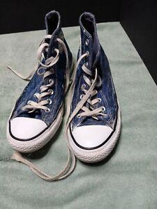 Converse All Star Chuck Taylor Hi Top Sneakers Blue Women 9