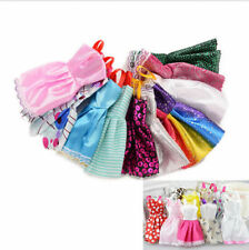 10pcs Random Handmade Barbie for Dress Clothes Charm Collection Party Doll Mixed