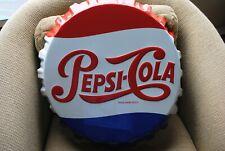 "Pepsi Cola Metal Bottle Cap Sign Stout Mfg 0338964R 19"" Diameter Great Condition"