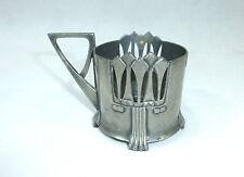 Jugendstil Teeglashalter um 1900 Zinn WMF Straußenmarke