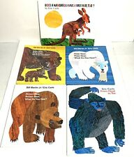 Lot of 5 Eric Carle Hardcover Brown Polar & Baby Bear From Head to Toe & More