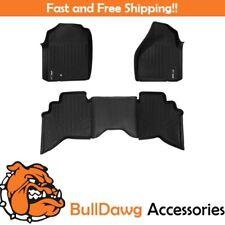 SMARTLINER All Weather Floor Mats Liner for Dodge RAM Quad Cab Front Set Black