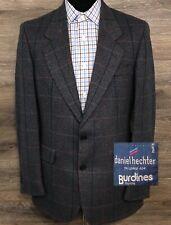 VTG Daniel Hechter Paris Men's Blue Plaid Wool Blazer Sport Coat Jacket USA 38R