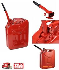 5 Gallon Jerry Can Gas Fuel Diesel Steel Tank 20L Military Red Army Metal Nato