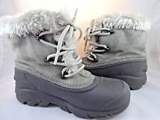 SOREL Womens Gray Winter Snow Boots Sz 5 Thinsulate Lace Up WORN ONCE!