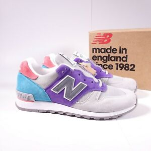 New Balance Men's 670 City Sunrise Sneakers M670GPT Grey/Purple/Teal Made in UK
