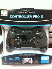 Brand NEW Factory Sealed Wireless Controller (Black) for Wii, Wii U & Android