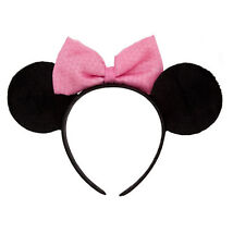 Disney Store Pink Minnie Mouse Ears Costume Headband Dress Up Vacation Gift NEW