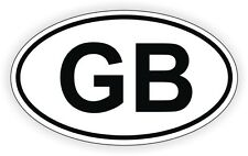 GB Oval Vinyl Decal Bumper Sticker Euro Great Britain Label Mini Cooper British
