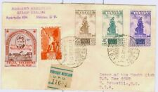 Mexico cover on Tulsa Expo 1939. 4 stamps plus label