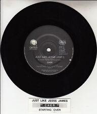 "CHER  Just Like Jesse James 7"" 45 rpm vinyl record + juke box title strip"