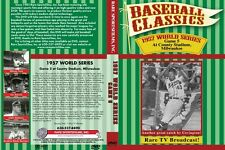 1957 World Series Game 5 at Milwaukee TV Broadcast, Ford vs Burdette on DVD!