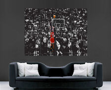 MICHAEL JORDAN BASKETBALL POSTER ART NBA LEGEND SPORT USA CHICAGO BULLS