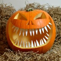 Pumpkin Teeth - Halloween Pumpkins Carving Set Accessory Evil White Scary  Kids