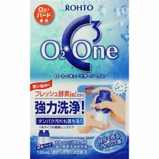 ROHTO C Cube O2 One Contact Lens Cleaner 120ml x 2