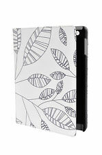 Kolorfish Designer Leather Case Cover For iPad 2 3 4 --White--Leaves