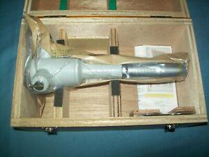 New Mitutoyo 368-174 Holtest Vernier 3-point Inside Micrometer 100 - 125mm Range