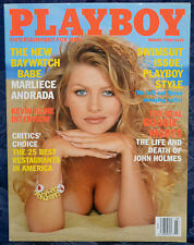 "Magazine PLAYBOY March 1998 !!! JAIME PRESSLY !!!, ""MARLIECE ANDRADA-CENTERFOLD"""