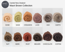 DHG Carded New Zealand Maori Felting Wool.  Claire's Crafts Felting Shop
