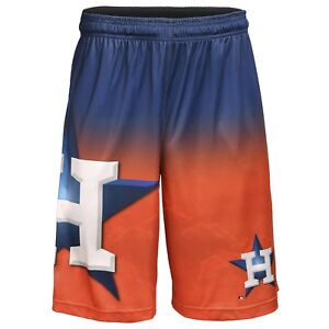 Houston Astros MLB Gradient Blue/Orange Big Logo Training Shorts FREE SHIP
