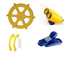YELLOW Playground Accessory Pack Ship Wheel Binoculars Telephone Handles Cubby