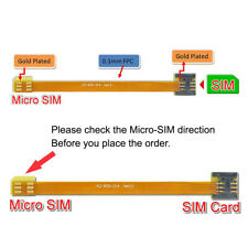 Chenyang Micro Sim Card to Nano Sim Kit Male to Female Extension Soft Flat Cable