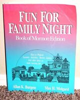 FUN FOR FAMILY NIGHT BOOK OF MORMON EDITION by Burgess MADE EASY LDS PB