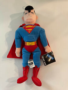 Vintage 1998 Superman Warner Bros Studio Store Bean Bag Plush-New