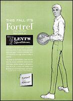 1963 Levi's fortrel men's sportswear basketball vintage art Print Ad ads25
