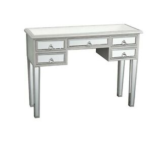 Modern Mirrored Entryway Console Acent Table w/ Drawer Storage for Home
