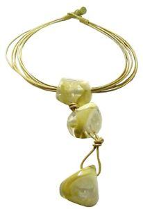 SOBRAL beige three drop necklace-