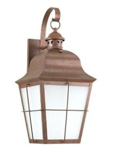 Sea Gull Lighting 89273-44 One Light Outdoor Wall Lantern - Weathered Copper