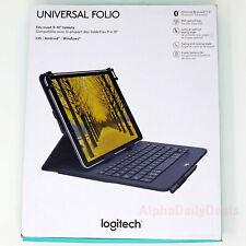 "Logitech Universal Folio Keyboard Case 9-10"" Tablet Wireless Bluetooth"
