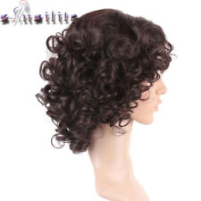 Kinky Curly Wigs for Black Women Blonde Mixed Brown Synthetic