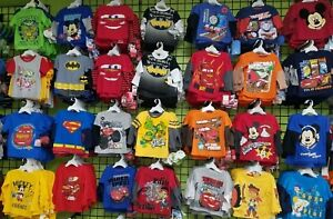t Shirts Wholesale Lot Boys 6 and 12 Pack Clothes New Baby Toddler Size Gift Set
