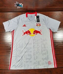 Adidas Men's Size XL, New York Red Bulls Home Soccer Jersey 2020 Grey Red Bull