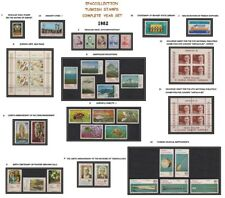TURKEY 1982 COMPLETE YEAR SET, INCLUDES DEFINITIVE STAMPS, MNH