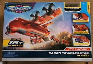 Micro Machines Fire & Rescue Cargo Transporter Playset Jazwares Brand New Age 4+