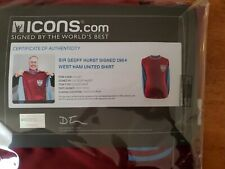 Sir Geoff Hurst Signed 1964 West Ham Shirt - Autograph Jersey with ICONS COA